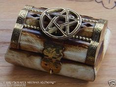 Old European Master Crafted Magical Arts™ Wicca Witchcraft, Wiccan, Magick, Season Of The Witch, Antique Boxes, Pentacle, Treasure Chest, Occult, Trinket Boxes