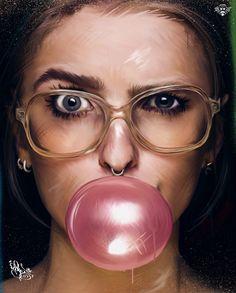 Bubble gum  ⭐⭐⭐⭐⭐  Artist by #Pashok_St #LevArt #M5 #m5zone #BFT #TatuGirl #Art #Disign #Underground #City #Color #Bubble #Gum