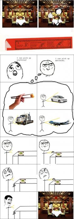 funny rage comics lol I stink at using a chopstick