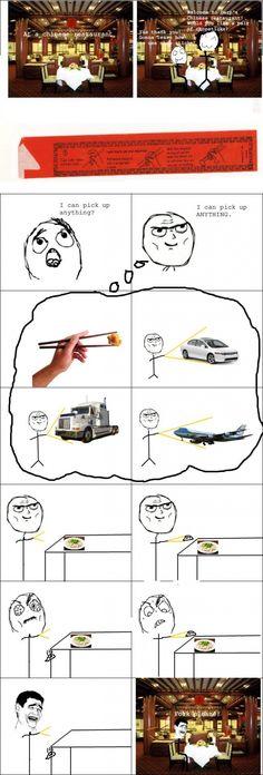funny rage comics lol I stink at using a chopstick