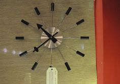 mid-century modern wall clock by DIY Del Ray, via Flickr