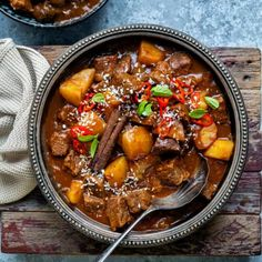 Slow cooker Greek Lamb Kleftiko with potatoes | Supergolden Bakes Beef Curry Stew, Slow Cooker Beef Curry, Lamb Recipes, Curry Recipes, Real Food Recipes, Easy Beef Curry Recipe, Homemade Gyro Recipe, Coconut Beef Curry, Gluten Free Recipes For Dinner