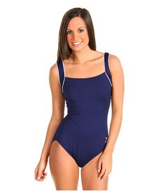 7944541fde2 TYR Solid Square Neck Tank Suit. Navy One PieceBlue One Piece SwimsuitOne  ...