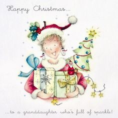Cards » Happy Christmas Granddaughter » Happy Christmas Granddaughter - Berni Parker Designs