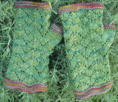 Knitted wristwarmers free pattern sock yarn  new cranfords by probablyjane, via Flickr