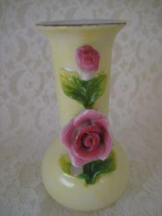 Vintage Made in Occupied Japan Mini Porcelain Vase Toothpick Holder #Maruyama