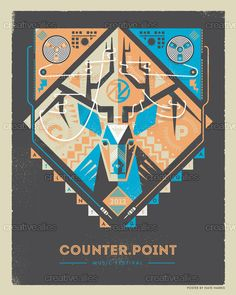 CounterPoint Music Festival Poster by Nate Harris on CreativeAllies.com