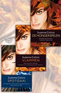 Dutch covers for The Hunger Games, Catching Fire and Mockingjay. These are pretty kewl!