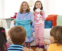 For a twist on classic charades, the kids can pull a cloud-shaped clue from a pillowcase.