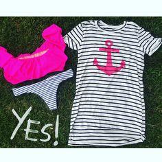 "LAST CALL: ""Lost at Sea"" cotton dress |S| #shop #swimsuit #vs"