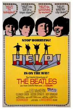 "Hilariously strange ""Help!"" poster - ""Help! I'm surrounded by women!"" :P"