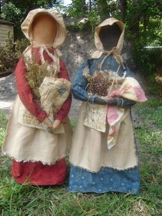 Country Folkart Prairie Dolls E Pattern by SouthernBelleScentz Primitive Sheep, Primitive Doll Patterns, Primitive Crafts, Amish Dolls, Applique Pillows, Doll Display, Doll Painting, Doll Maker, Soft Dolls
