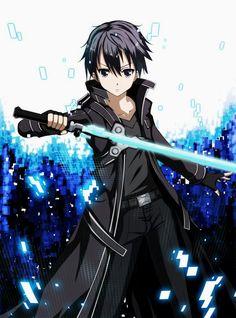 Kirito Anime, Sao Anime, Kirito Sao, Sao Ggo, Sword Art Online Shirt, Sword Art Online Asuna, Online Anime, Online Art, Manga Anime