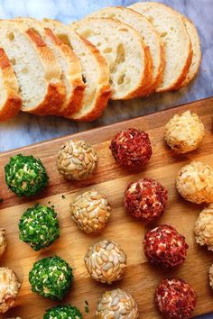 Cheese Ball Bites Are the Ultimate Make-Ahead Christmas Party Appetizer : Cheese Ball Bites are the ultimate make-ahead party A simply adorable starter for the holiday season, these mini cheese balls take only 15 minutes to whip together. Cheese Appetizers, Finger Food Appetizers, Healthy Appetizers, One Bite Appetizers, Individual Appetizers, Last Minute Appetizer, Potluck Appetizers, Seafood Appetizers, Savory Snacks