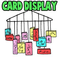 Christmas Card display the kids can have fun with.  http://www.artistshelpingchildren.org/kidscraftsactivitiesblog/2011/01/making-a-greeting-card-display-wall-hanger-crafts-idea-for-kids/#