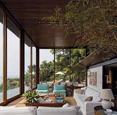 AMB House by Bernardes Jacobsen Arquitetura - Architecture and Home Decor - Bedroom - Bathroom - Kitchen And Living Room Interior Design Decorating Ideas - Jungle House, Forest House, Bungalow, Home Interior, Interior Decorating, Interior Design, Decorating Ideas, Residential Architecture, Interior Architecture