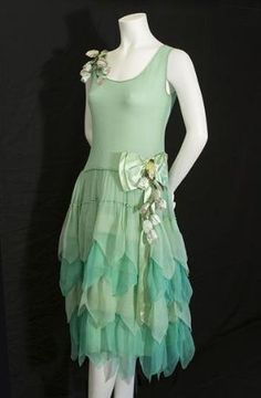 Chiffon party dress, c.1924, from the Vintage Textile archives. by polly