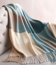 Alpaca Throw - Blue Colorblock, Gifts for Couples: Serrv International Muted Colors, Warm Colors, Blue Grey Walls, Beige Curtains, Alpaca Throw, Ticking Fabric, Blue Throws, Green Gifts, Color Blocking