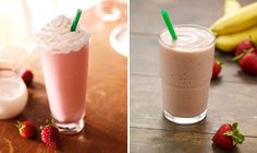 What to Skip, What to Sip: Starbucks& Creamy, Icy Drinks Healthy Starbucks Drinks, Healthy Drinks, Healthy Snacks, Healthy Eating, Healthy Recipes, Fun Drinks, Yummy Drinks, Yummy Food, Beverages