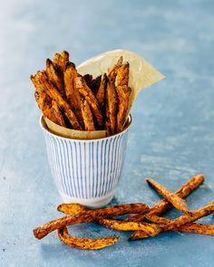 Baked Crispy Sweet Potato Fries   A Couple Cooks