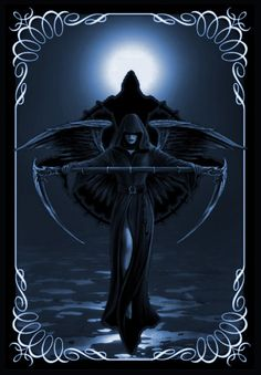 Find images and videos about dark and death on We Heart It - the app to get lost in what you love. Grim Reaper Art, Don't Fear The Reaper, Gothic Fantasy Art, Fantasy Kunst, Beautiful Dark Art, Angel Warrior, Ange Demon, Angel And Devil, Gothic Angel