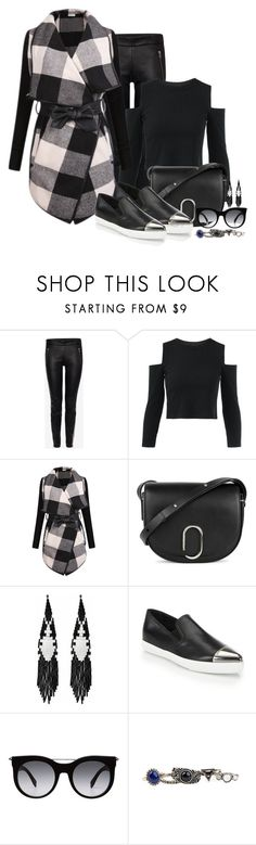 """""""Checking out Plaid [2]"""" by myxvonwh on Polyvore featuring Alexander McQueen, 3.1 Phillip Lim, Forest of Chintz, Miu Miu and Arizona"""