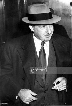 Frank Costello (1891-1973) Italian immigrant member of mafia, here on March 13, 1951.