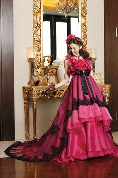 Hot Pink Wedding Dress #bridal #gown weddingdressfantasy.com