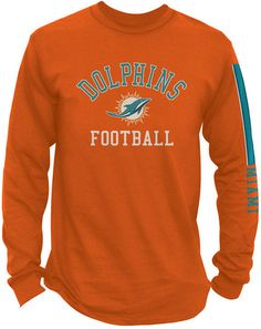 Authentic NFL Apparel Men s Miami Dolphins Spread Formation Long Sleeve T-Shirt  Men - Sports Fan Shop By Lids - Macy s 6f7e12823
