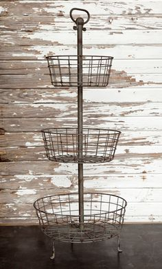 The perfect display stand! I have tried this in every room and it works! In the bathroom with decorative soaps, small rolled towels and bath products, in the kitchen with fruit and veggies, or kitchen