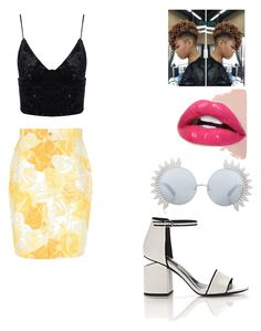 """""""Untitled #5"""" by keshawna-primer on Polyvore featuring Versace, Alexander Wang, Linda Farrow and MinnieStyles"""