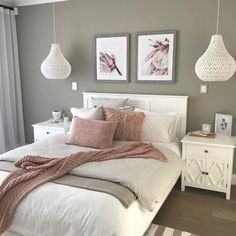 15 Modern Bedroom Interior Design Ideas That Make You Look Twice White Bedroom Decor, Bedroom Makeover, Cute Bedroom Decor, Dining Room Wall Decor, Rope Pendant Light, Home Decor, Small Bedroom, Bedroom Decor, Bedroom