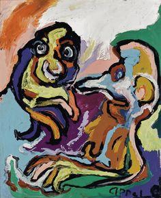'Les amis' (1971) by Karel Appel