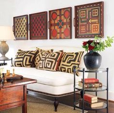 Vintage game boards as wall art.African home decor ideas. African american home decor. African Interior Design, African Design, Living Room Decor, Living Spaces, Simple Sofa, African Home Decor, South African Decor, Decoration Inspiration, Decor Ideas