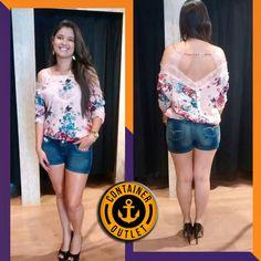 Meninas! Olhem essa blusa linda! APENAS 49,99! #vemprocontainer #containeroutlet #modafeminina #pequenospreços