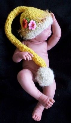 ♥♥♥Crochet Baby Hats with Flowers♥♥♥