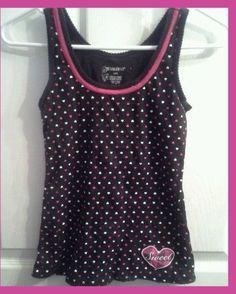 Sexy Womens Juniors Sweet Hearts Lingerie Teddies Shirt Tank Top Blouse #NoBo