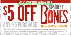 Smokey Bones Coupons Ends of Coupon Promo Codes JUNE 2020 ! But Bones open Bones, in grill Smokey not it good but good one's it who fo. Restaurant Deals, Restaurant Coupons, Grill Restaurant, Restaurant Discounts, Smokey Bones, Coupons For Boyfriend, Fire Grill, Free Printable Coupons, Store Coupons