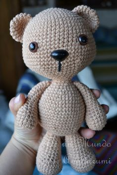 It is a Amigurumi World: free teddy pattern all ready for dressing. Crochet Amigurumi, Crochet Teddy, Crochet Bear, Love Crochet, Amigurumi Doll, Amigurumi Patterns, Diy Crochet, Crochet Crafts, Crochet Dolls