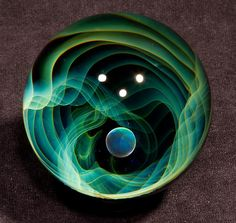 Fumed void with opal borosilicate marble 2.00 by BlueGooseStudios, $140.00