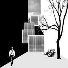 Mansilla + Tuñón Arquitectos · Acceso a la calle Artistas por la calle Don Quijote