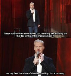 Jim Gaffigan and I could totally be friends. by marcia