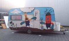 Spraypaint. Final design caravan DDW14 for 'Kleingemaakt' by @Studio Kontra