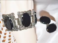 Vintage Judy Lee Matching Bracelet and Earrings Set by LustfulJewels on Etsy https://www.etsy.com/listing/168395279/vintage-judy-lee-matching-bracelet-and