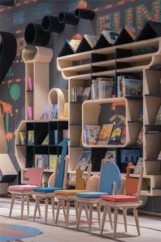 The Best 2019 Interior Design Trends - Interior Design Ideas Kindergarten Interior, Kindergarten Design, Kids Library, Library Design, Baby Design, Hangzhou, Parents Room, Kids Zone, Kid Spaces