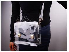 2015 nova moda sacos transparentes mulheres mensageiro bom Design de alta qualidade bolsas de PVC Tote geléia sacos