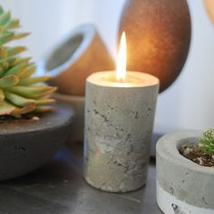Concrete Oil Lamp by Anson Design CO on Opensky