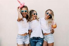 fantastic Bachelorette Party Ideas for a Great Time with Your Besties. Bach, please! We scoured the Internet in search of only the best bachelorette party ideas. Bridesmaid Duties, Bridesmaid Shirts, Bridesmaids, Bridesmaid Ideas, Bridesmaid Dresses, Classy Hen Party, Bachelorette Party Shirts, Bachelorette Weekend, Bachelorette Decorations