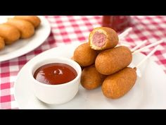 How to Make Mini Corn Dogs - Easy Homemade Corn Dogs Recipe - YouTube