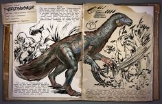 The Therizinosaurus (thair-uh-ZEEN-uh-SAWR-us) is one of the Dinosaurs in ARK: Survival Evolved. #gaming #gamer #ark #survival #evolved